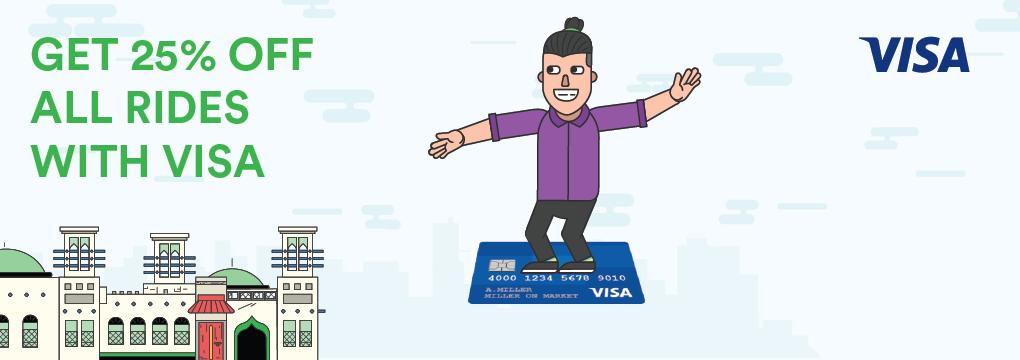 Get 25% off all rides with Visa - Careem Blog